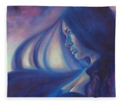 Raven Sunrise Fleece Blanket