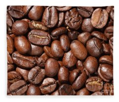 Raw Coffee Beans Background Fleece Blanket