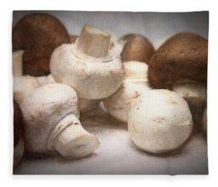 Raw Mushrooms Fleece Blanket