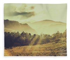 Rays Of Dusk Fleece Blanket