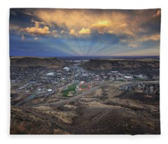 Rays Over Golden Fleece Blanket