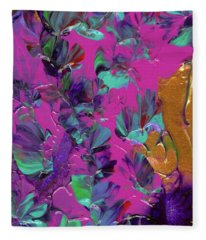 Razberry Ocean Of Butterflies Fleece Blanket