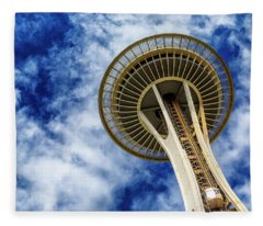 Reach For The Sky - Seattle Space Needle Fleece Blanket