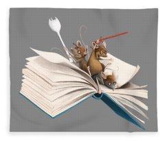 Reading Is An Adventure Fleece Blanket