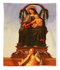 Reading The Bible Fleece Blanket