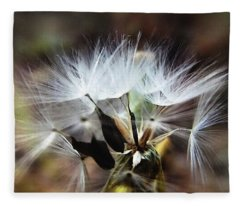 Ready To Fly... Salsify Seeds Fleece Blanket