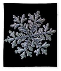Real Snowflake - Hyperion Black Fleece Blanket