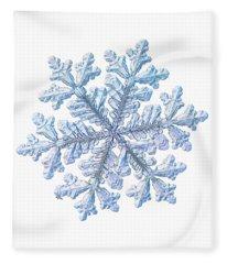 Real Snowflake - Hyperion White Fleece Blanket