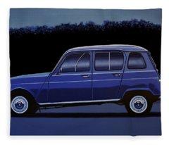 Renault 4 1961 Painting Fleece Blanket