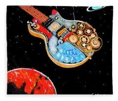 Rebel Guitar Fighter Fleece Blanket