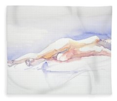 Reclining Figure  Fleece Blanket