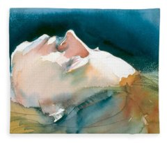 Reclining Head Study Fleece Blanket