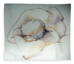 Reclining Study 3 Fleece Blanket