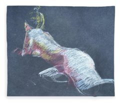 Reclining Study 4 Fleece Blanket