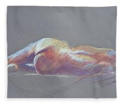 Reclining Study 5 Fleece Blanket