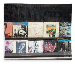 Record Store Burlington Vermont Fleece Blanket