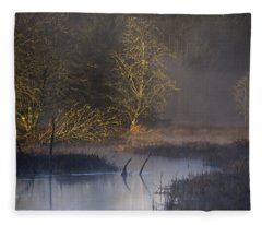 Red Alder Along Colewort Creek Fleece Blanket