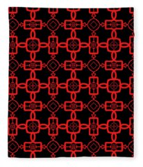 Red And Black Celtic Cross Pattern Fleece Blanket