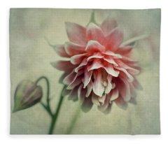 Red And Pink Columbine Fleece Blanket