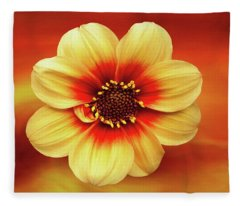 Red And Yellow Inspiration Fleece Blanket