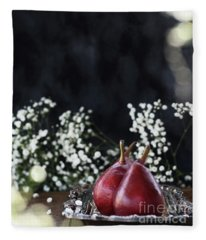 Red Anjou Pears Fleece Blanket
