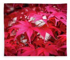 Red Autumn Fleece Blanket