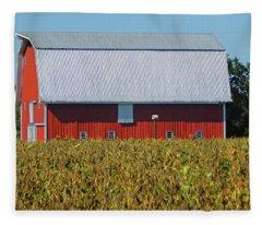 Red Barn Charm - Cambridge Md Fleece Blanket