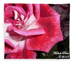 Red Beauty 3 - Love Fleece Blanket