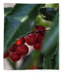 Red Berry Fleece Blanket