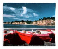 Red Boat Diaries Fleece Blanket