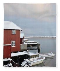 Boathouses Fleece Blanket