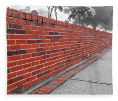 Red Brick Fleece Blanket
