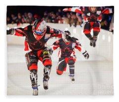 Red Bull Crashed Ice St Paul 3 Fleece Blanket
