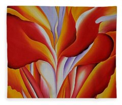 Red Canna Fleece Blanket