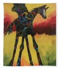 Red Canyon Warrior Fleece Blanket