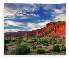 Red Cliffs Of Caprock Canyon 2 Fleece Blanket