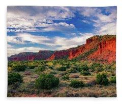 Red Cliffs Of Caprock Canyon Fleece Blanket