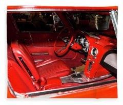 Red Corvette Stingray Fleece Blanket