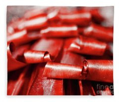 Red Curls Fleece Blanket