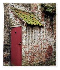 Red Door Fleece Blanket