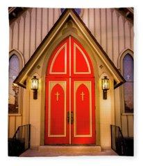 Red Doors Fleece Blanket