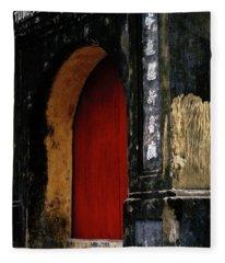 Red Doorway Fleece Blanket