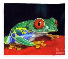 Red Eyed Tree Frog Fleece Blanket