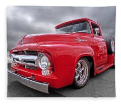 Red F-100 Fleece Blanket