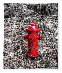 Red Fire Hydrant Fleece Blanket