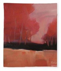Red Flair Fleece Blanket