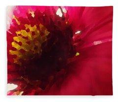 Red Flower Abstract Fleece Blanket