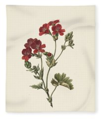 Red Flower M  De Gijselaar  1830 Fleece Blanket
