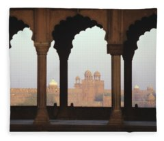 Red Fort From The Jama Masjid Fleece Blanket