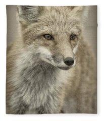 Red Fox Six Fleece Blanket